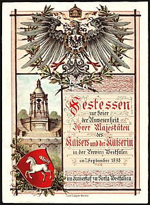 Festessen Kaiser Wilhelm 1898 (front page).jpg