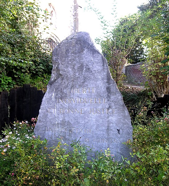 Fexhe-le-Haut-Clocher,  Belgium: Memorial stone for the Peace Treaty of Fexhe (1316)