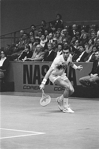 Ivan Lendl - Ivan Lendl in the final of the 1984 ABN World Tennis tournament in Rotterdam
