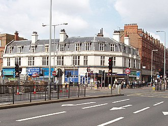 Finchley Road tube station - The station entrance.