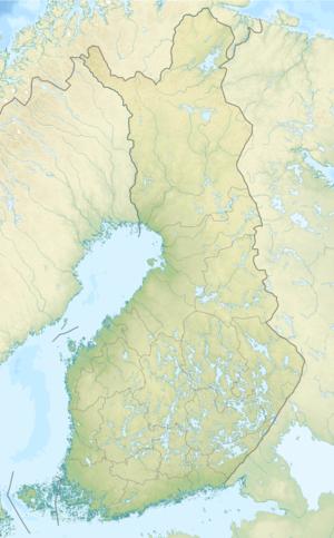 Reliefkarte: Finnland