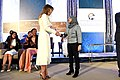 First Lady Melania Trump Presents the 2017 International Women of Courage Award to Fadia Najib Thabet of Yemen (33338551450).jpg