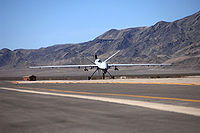 First MQ-9 Reaper taxies at Creech AFB 2007.jpg