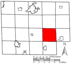 Location of Fitchville Township in Huron County