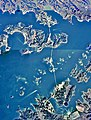 Five Bridges of Amakusa,four bridges Southern side Aerial photograph.1974.jpg