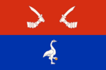 Flag of Priozersky rayon (Leningrad oblast).png