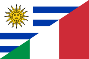 Flag of Uruguay and Italy.png