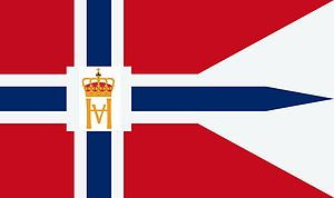 Yacht ensign - Image: Flag of the Kongelig Norsk Seilforening (Royal Norwegian Yacht Club)
