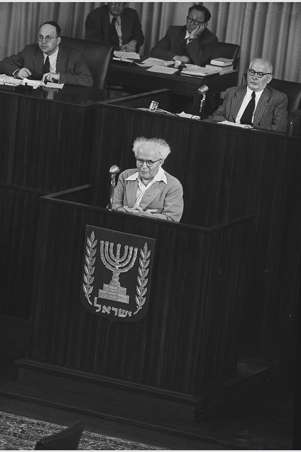 Flickr - Government Press Office (GPO) - PM DAVID BEN GURION SPEAKING IN THE KNESSET IN TEL AVIV