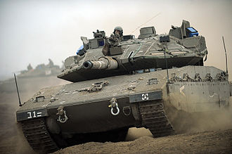 401st Brigade (IDF) - A tank during a training day held in the Golan Heights for the 401st Armored Brigade