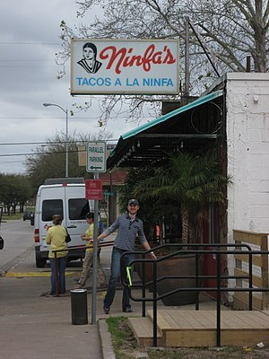 History of Mexican Americans in Houston - Original Ninfa's on Navigation Boulevard, established by Ninfa Laurenzo