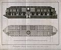Floating public bath-house; cross-section above and plan bel Wellcome V0019614.jpg