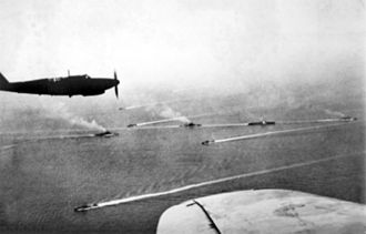 803 Naval Air Squadron - An 803 Squadron Fulmar I during the Battle of Cape Matapan, 1941.