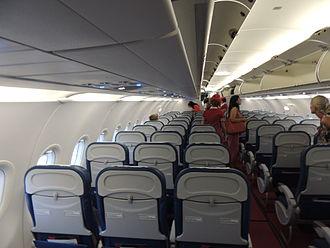 Fly Georgia - Cabin aboard a FlyGeorgia Airbus aircraft