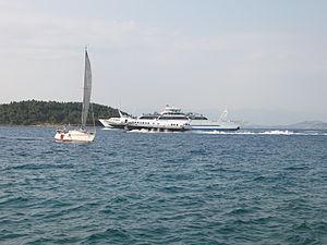 Flying Dolphin in Corfu