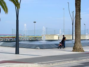 "Roseto degli Abruzzi - Fountains on the ""Roseto sea promenade"""