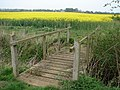 Footbridge on Public footpath beyond Brauncewell Medieval Village - geograph.org.uk - 407959.jpg