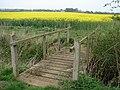 Footbridge on Public footpath beyond Brauncewell Medieval Village - geograph.org.uk - 407959.jpg