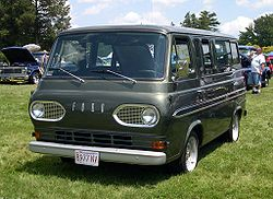 A 1960s Ford van, similar to the van used in the bombing.