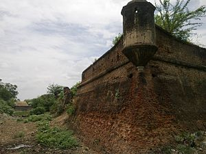 Battle of Wandiwash - The Vandavasi fort.