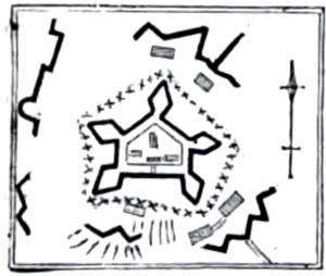 Fort Washington (Manhattan) - Layout of Fort Washington from an 1850 book