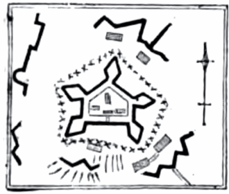 Fort Washington (Manhattan) - Layout of Fort Washington from an 1850 book
