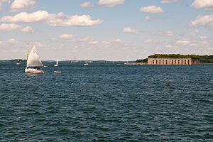 Fort Gorges - Fort Gorges as seen from Portland harbor.