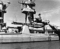 Forward superstructure and aircraft catapult of USS Alaska (CB-1) circa 1945.jpg