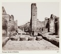 Fotografi av Strada di Stabbia. Pompeji, Italien - Hallwylska museet - 106866.tif