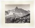 Fotografi av berget Aiguille du Dru och glaciären Montanvert - Hallwylska museet - 103139.tif