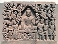 Four Scenes from the Life of the Buddha - Enlightenment - Kushan dynasty, late 2nd to early 3rd century AD, Gandhara, schist - Freer Gallery of Art - DSC05124.JPG