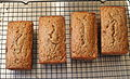 Four loaves of Walnut-Bourbon Banana Bread, March 2010.jpg