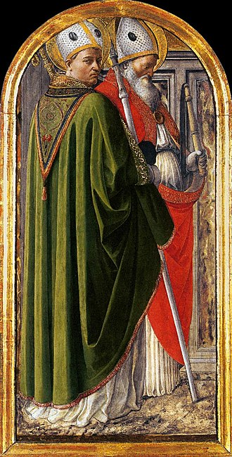 Accademia Albertina - Saints Augustine and Ambrose by Filippo Lippi, part of academy's collection