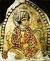 Fragment de peinture murale de Fustat avec homme buvant du vin. Xe-XIe siècle. Période fatimide. Le Caire. Musée des arts islamiques.jpg