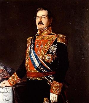 Francisco Armero Peñaranda - Portrait of the Admiral of the Spanish Navy Francisco Armero y Fernández Peñaranda (1804 - 1866)
