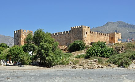 Frangokastello was built by the Venetians in 1371-74 Frangokastello R03.jpg