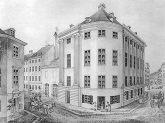 Johan Martin Quist - The Frederik Tuteins House at the corner of Vimmelskaftet with Badstuestræde, built after the Fire of 1795