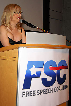 "Free Speech Coalition - Nina Hartley delivering opening speech at ""Free Speech Coalition Awards Annual Bash Event"", Los Angeles, November 2009"