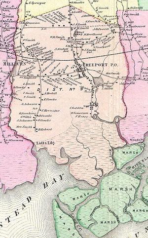 Freeport, New York - Map of Freeport, 1873