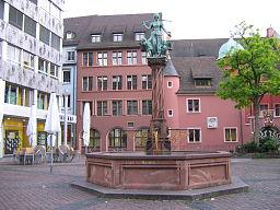 Freiburg Brunnen Kartoffelmarkt 9726