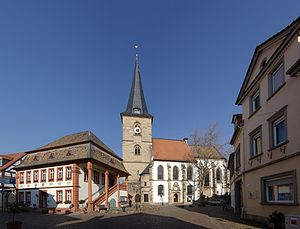 Freinsheim - Town hall and protestant church