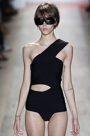 Freja Beha Erichsen - Erichsen on the runway at the Herve Leger Summer 2009 show in New York