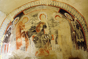 David Gareja monastery complex - One of the monastery's surviving frescoes.