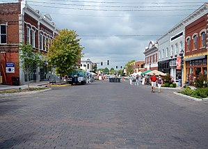 Rogers, Arkansas - Downtown Rogers during the 2012 Frisco Festival