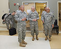From left foreground, U.S. Army Col. Michael Kinnison, an administrative officer with the 45th Infantry Brigade Combat Team, Oklahoma Army National Guard, leads a tour of the new Norman Armed Forces Reserve 130528-Z-VF620-4461.jpg