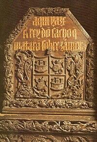 Frontal del sepulcro del rey Sancho II de Castilla y León. Monasterio de San Salvador de Oña (Burgos).jpg