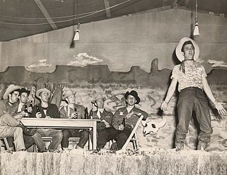 Frontier Fiesta - Student performs on stage at Frontier Fiesta in 1981