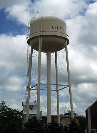 Fulda, Minnesota - The watertower in Fulda