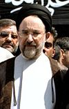 Funeral of Rahman Dadman - May 20, 2001 (Cropped on Khatami).jpg