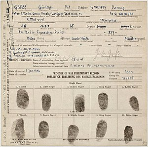 The prisoner of war record of German author an...
